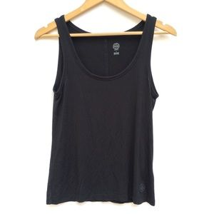 Tory Burch Stretch Knit Scoop Neck Logo Tank Top